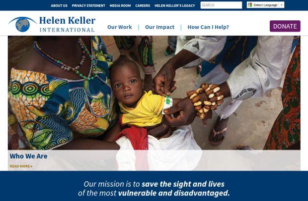 Helen Keller International_homepage