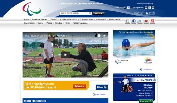 International Paralympic Committee_homepage