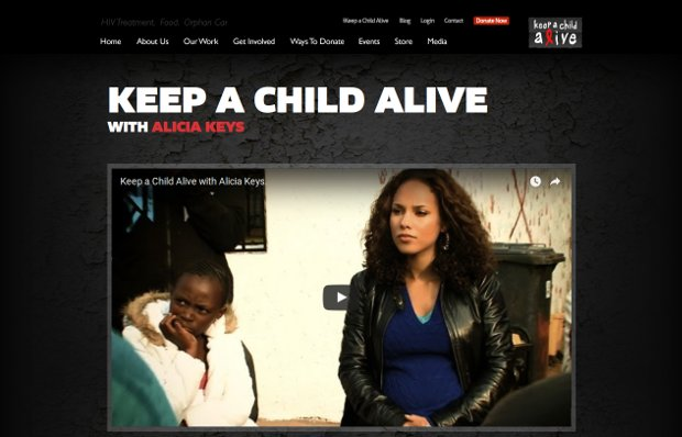Keep a Child Alive_website