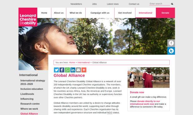 Leonard Cheshire Disability_homepage