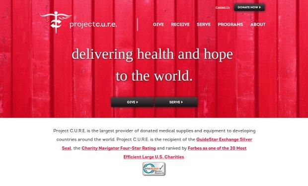 Project C.U.R.E._homepage