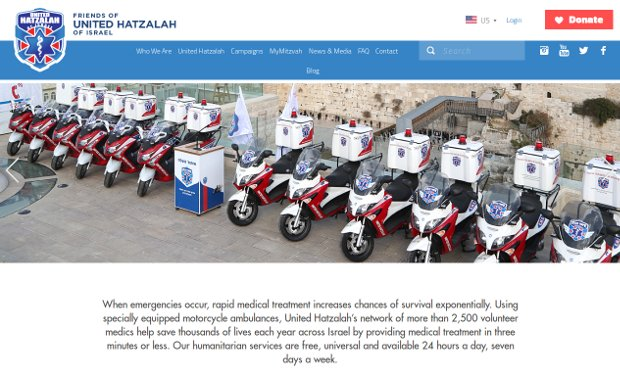 United Hatzalah_homepage