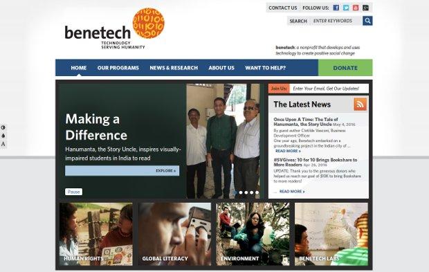 Benetech_homepage