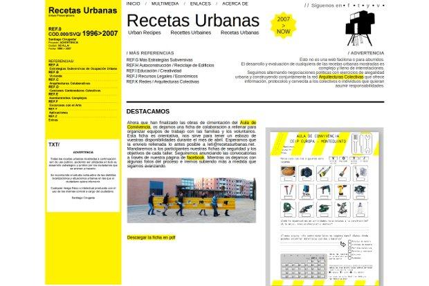Recetas Urbanas_homepage