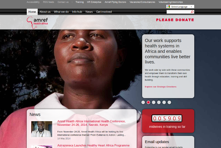 Amref Health Africa_website