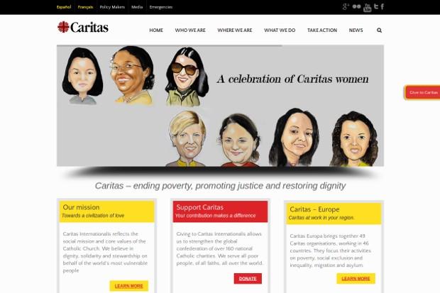 Caritas Internationalis_homepage
