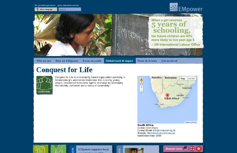 Conquest for Life _website