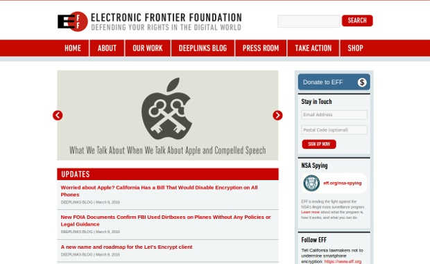Electronic Frontier Foundation_homepage