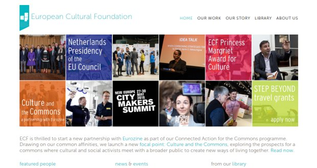 European Cultural Foundation-homepage