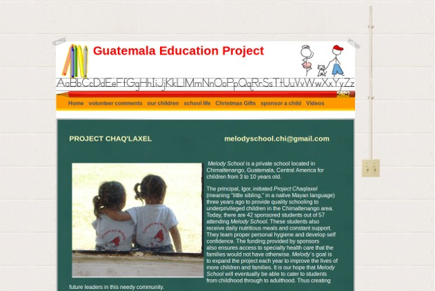 Guatemala Education Project_homepage