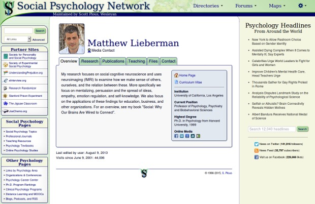 Matthew Lieberman_homepage