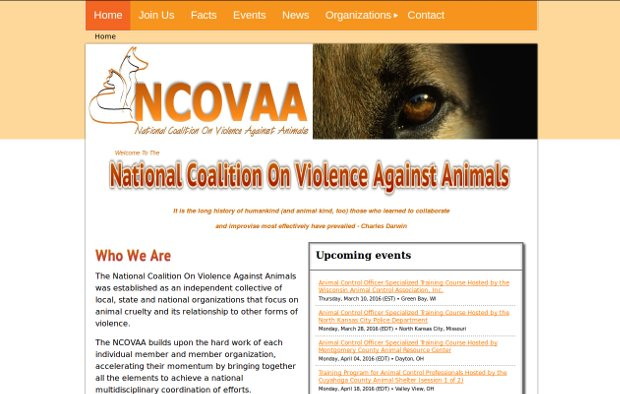 National Coalition On Violence Against Animals - Homepage
