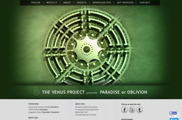 Official Home Page - The Venus Project  Paradise or Oblivion