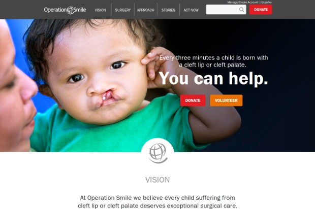 Operation Smile_homepage