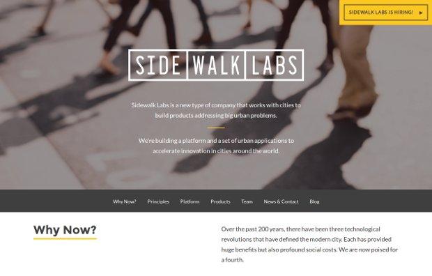 Sidewalk Labs_homepage