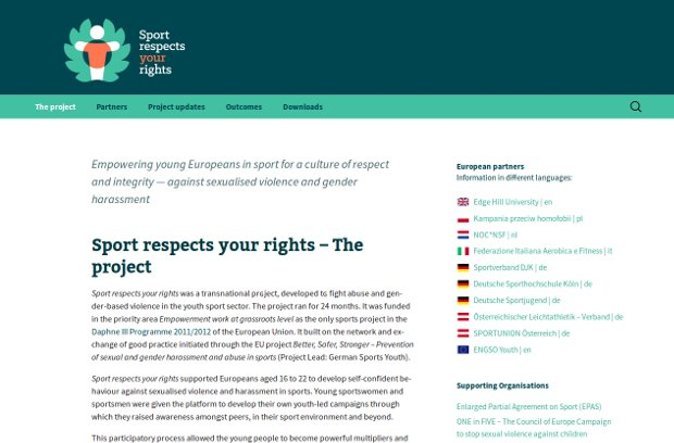 Sport respects your rights_homepage