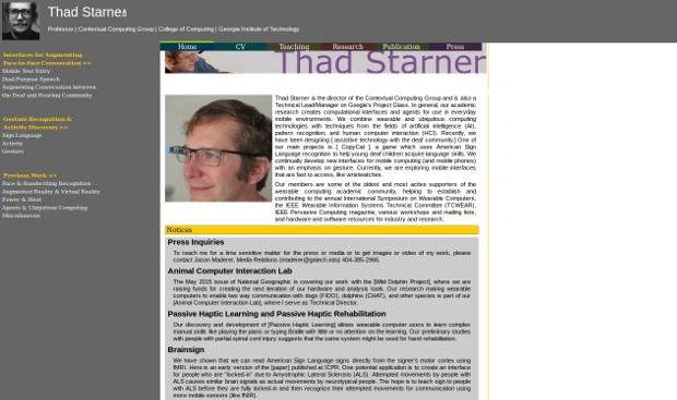 Thad Starner_Homepage