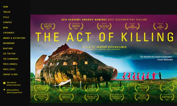 The Act of Killing_website