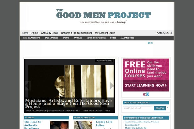 The Good Men Project_homepage