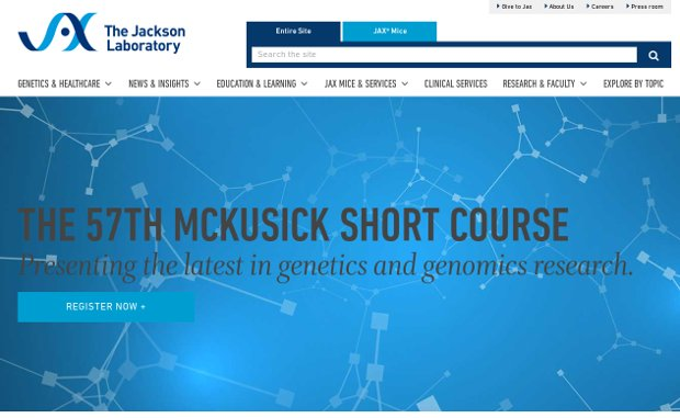 The Jackson Laboratory_website