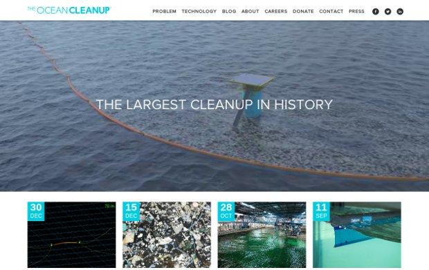 The Ocean Cleanup_website