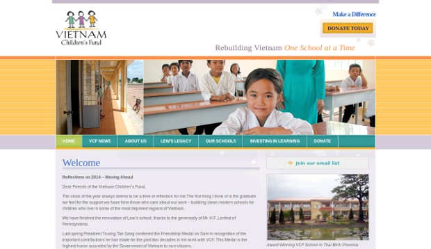 Vietnam Children's Fund_homepage